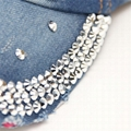 Personalized glitter denim baseball cap unisex I love jesus rhinestone bling cap