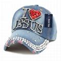 Personalized glitter denim baseball cap