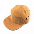 Hot sale solid color 5 panel corduroy hat blank plain fashion camper hat