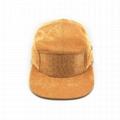 Hot sale solid color 5 panel corduroy hat blank plain fashion camper hat