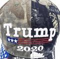Custom Camo Print Trump Hat 2020 Keep America Great USA Flag Embroidered Trucker