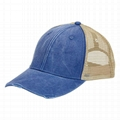Durable Structured Distressed Trucker Hat Mid-profile Mesh Hat Custom Logo