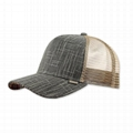 Chambray 5 panel 100 cotton baseball cap