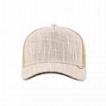 Chambray 5 panel 100 cotton baseball cap Mesh Foam Trucker sport Cap Dark Grey