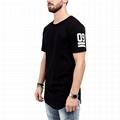 Black Extra Long T Shirt Plain 65%