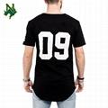 Black Extra Long T Shirt Plain 65% Polyester 35% Rayon 3d Printed Diy Patch
