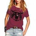 Summer Women T-Shirt Lady Loose Scoop Neck Tops Graphic Printed Cute Juniors Tee