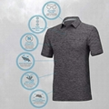 Wholesale Golf Shirts Men Dry Fit Wicking Polo Athletic Casual Collared T-Shirt