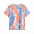 Custom T Shirt Logo Print Rolled Short Sleeve Tie Dye T Shirts Women Tee Top