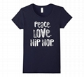 Hot selling cotton t shirt men peace love sublimation printing hip hop clothing