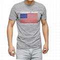Wholesale American flag print t shirt 100% cotton trump election shirt