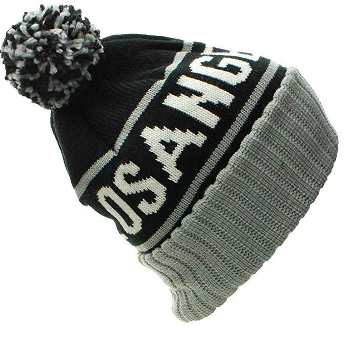 Custom Jacquard Beanie Your Own Embroidery Logo Acrylic Pom Pom Beanie Hat  3