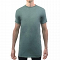 Streetwear Tall Tee Hipster Extra Long Line Men Slim Fit T Shirt 65 Polyester