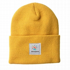 Hot Sale Men's Acrylic Watch Skully Beanie Cap Hat Rib-knit Private Label Hat