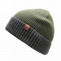 Slouch Olive Green Beanie Hat Warm Winter Fold Outdoor Beanie