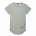 Wholesale extended t shirt side zipper