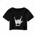Womens Cropped Tshirt Camo Printing Women Distressed Crop T Shirt Summer Tshirts