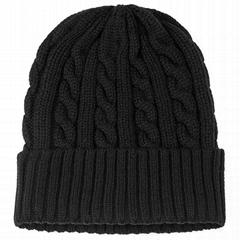 Custom Beanie Hat Winter Warm Beanie Soft Cashmere Like Feel Fold Knit Cap
