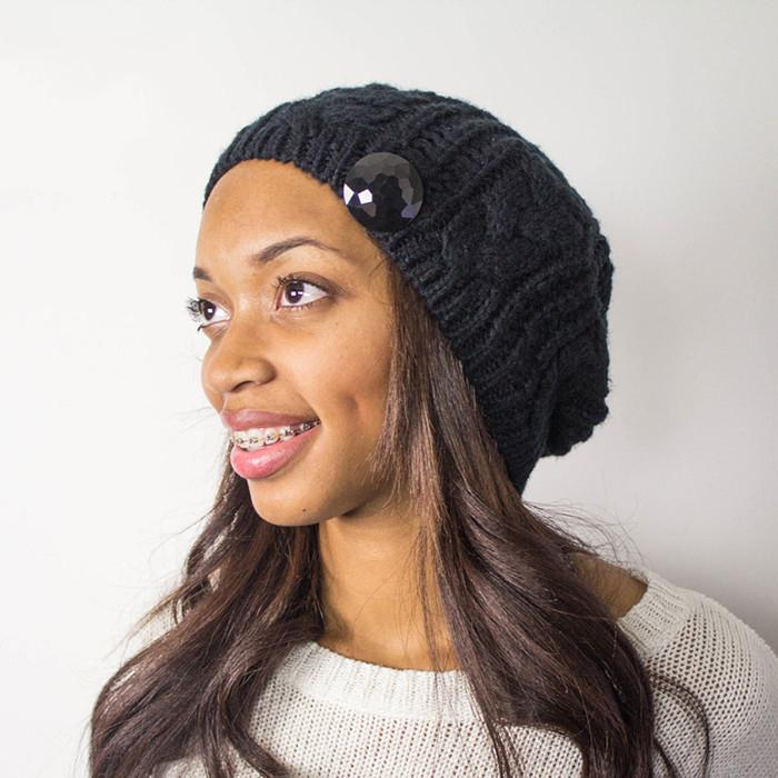 Fashion woman satin lined winter hats keep warm gorros with lana price 4