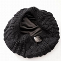 Fashion woman satin lined winter hats