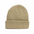100% premium merino wool beanie winter hat mens bonnet fold up beanie hat