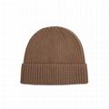 Hot sale soft cashmere blank beanie hats short beanie knitted custom toque