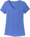 V neck t shirts women triblend t shirt 50% polyester 25% cotton 25% rayon custom