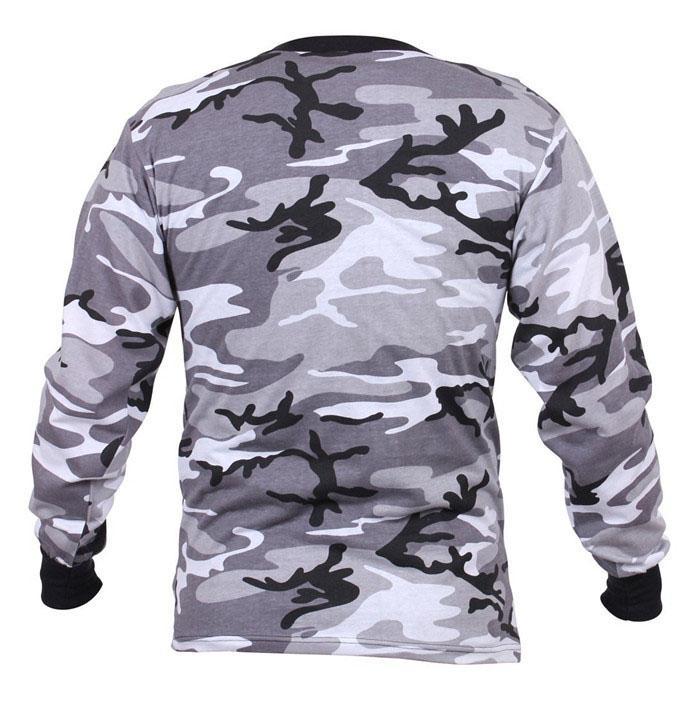Wholesale Camo long sleeve t shirts camo classic crew neck camouflage tee tops  4