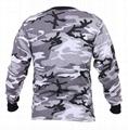 Wholesale Camo long sleeve t shirts camo classic crew neck camouflage tee tops