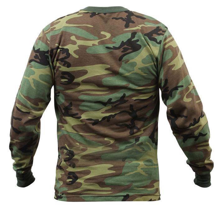 Wholesale Camo long sleeve t shirts camo classic crew neck camouflage tee tops  1
