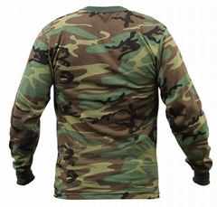 Wholesale Camo long sleeve t shirts camo classic crew neck camouflage tee tops