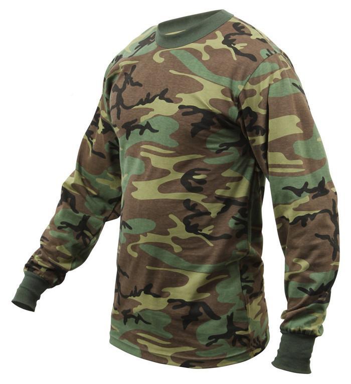 Wholesale Camo long sleeve t shirts camo classic crew neck camouflage tee tops  2