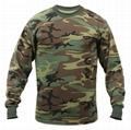 Wholesale Camo long sleeve t shirts camo classic crew neck camouflage tee tops  3