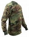 Wholesale Camo long sleeve t shirts camo classic crew neck camouflage tee tops  5