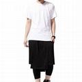 Trendy long tail t shirt blank hip hop