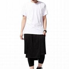 Trendy long tail t shirt blank hip hop tshirt back zipper swag t shirt hipster