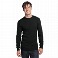 Trendy camouflage men t shirt camo long sleeve olive green blank military shirt 4