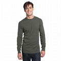 Trendy camouflage men t shirt camo long sleeve olive green blank military shirt 5