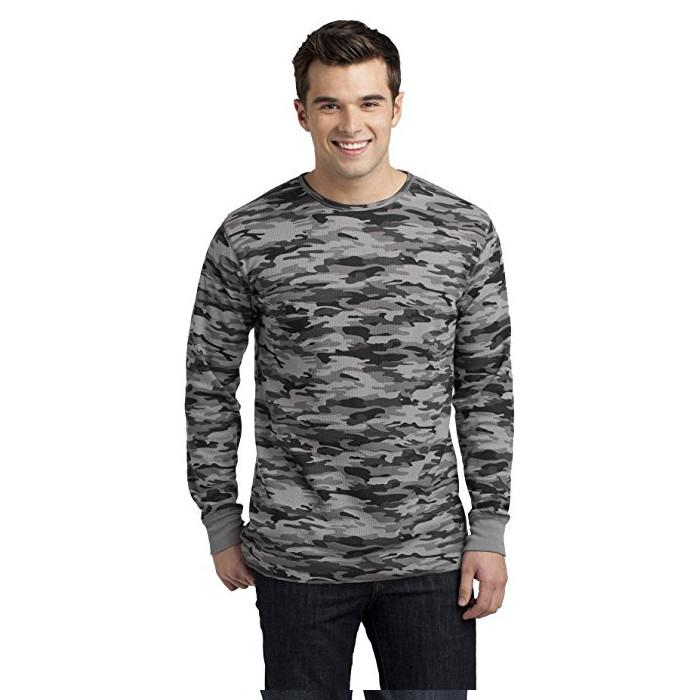 Trendy camouflage men t shirt camo long sleeve olive green blank military shirt 6
