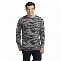 Trendy camouflage men t shirt camo long sleeve olive green blank military shirt