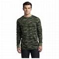 Trendy camouflage men t shirt camo long
