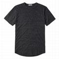 Vintage Charcoal Men Curved Hem Tee Shirt Fitness Tri Blend T shirt