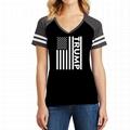 Custom Baseball Tshirt V Neck American Flag Printed Trump Campaign Shirt