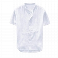 Mens Hemp Tshirts Clothing Linen Yarn Henley Shirts Casual Summer Tops Banded