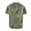 Mens Hemp Tshirts Clothing Linen Yarn