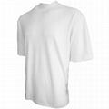 100% cotton turtleneck white t shirt