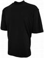 100% cotton turtleneck white t shirt plain tee shirts mock turtleneck tee