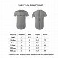 Custom Curved Hem T shirt Offer Drop Shipping Scallop T Shirt With Side Zipper