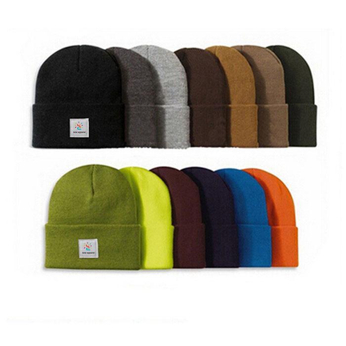 Wholesale green camo knit beanie cap mens beanie winter ski hat knitted hats 4