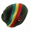 Wholesale green camo knit beanie cap mens beanie winter ski hat knitted hatsWhol